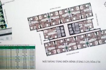 Bán căn hộ chung cư 43 Phạm Văn Đồng tầng 608 DT 69m2, giá bán gốc + chênh 400tr. LH 0979449965
