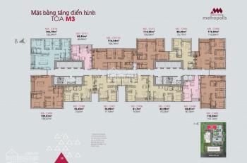 Bán căn hộ 01 tòa M3 2 phòng ngủ, hướng Đông Nam, tầng 1X, giá 6,1 tỷ, bao tên SĐCC. LH 0916568855