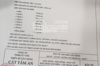 Bán 527m2 dãy trọ đường Tân Mỹ, p.Tân Thuận Tây, Q7, giá 75tr/m2, tặng GPXD, LH 0933849709