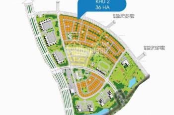 Đất nền mặt tiền biển Quy Nhơn. Nhơn Hội New City, chiết khấu 6%, Bình Định, trực tiếp chủ đầu tư