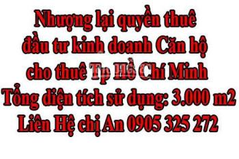 Nhượng lại quyền thuê đầu tư kinh doanh CĂN HỘ CHO THUÊ Tp Hồ Chí Minh