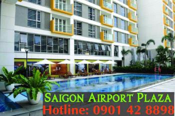 Cần cho thuê gấp CH 2PN Sài Gòn Airport Plaza, view đẹp, đủ NT, giá 18tr/tháng, LH 0901428898