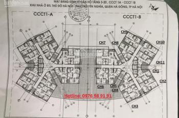Chính chủ cần bán cắt lỗ CH CT1 Yên Nghĩa, DT 62m2, 2PN, giá 12tr/m2. LH 0981167773