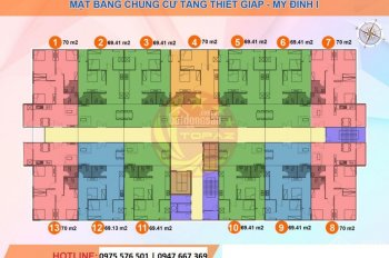 Chính chủ bán gấp căn hộ 1512 DT 69m2 CC Tăng Thiết giáp, giá 24tr/m2. 0904516638.