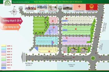 Bán đất giá đầu tư dự án Thái Dương Luxury, đường 6, giá 2.1 tỷ DT 54m2