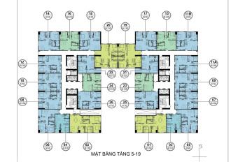 Bán gấp căn góc 1605, dt: 66m2 chung cư FLC Garden City , giá 19.5tr/m2. LH :0963777502
