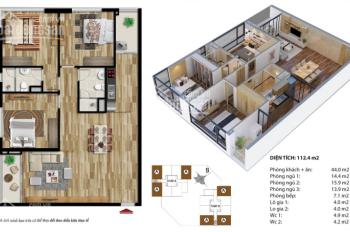 Bán căn hộ 3PN thiết kế đẹp nhất khu Thanh Xuân - Giá 3.4 tỷ gồm nội thất căn 111.8m2 - Căn góc 3PN
