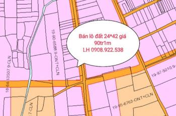 Bán lô đất hẻm đối diện công an huyện Xuân Lộc vào 500m, 24x42m sổ riêng giá 90tr 1m ngang