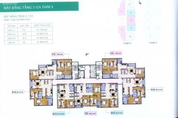 Chủ nhà cần bán gấp CHCC Xuân Phương Residence, căn 906, DT 86.4m2, giá 21.5tr/m2: 0904999135