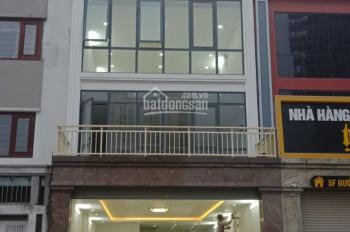 Cho thuê nhà mặt phố Nguyễn Khánh Toàn, Cầu Giấy, Hà Nội.Dt 100m,3 tầng,Mt 8m,thang máy.Giá 60tr/th