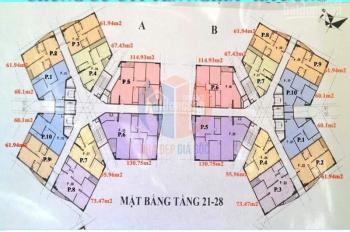 Tôi chính chủ cần bán gấp CC CT1 Yên Nghĩa, căn 1603, diện tích 61,94m2, giá 11tr/m2. LH 0931905666