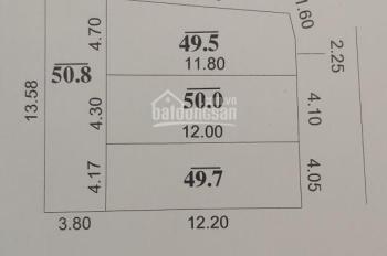 Cc cần bán 50m2 tại Đường Nhạn - Xuân Nộn - Đông Anh giá 750 triệu / lô