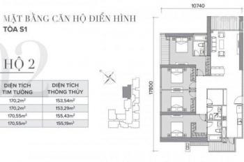 cần bán căn hộ 4PN view hồ rộng nhất dự án Vinhome Skylake