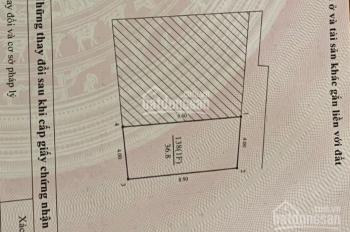 Cấn bán nhà đường Giáp nhị, Hoàng mai, Hà nội, 36,8m2, mt 4m, 1.6 tỷ TL