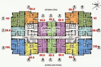 Gia đình tôi cần bán gấp CC CT36 Định Công, căn 1805, diện tích 69m2, giá 20tr/m2. LH 0931905666