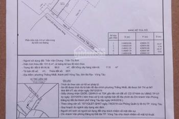 Chính chủ bán lô đất thổ cư 3 mặt hẻm 45 đường Tiền Cảng, Tp.Vũng Tàu