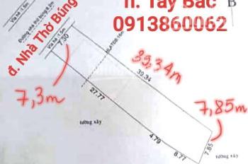 Bán đất mặt tiền đường Nhà Thờ Búng, Hưng Định, Thuận An. DT 318m2 7,3mx39,34m nở hậu, 30 triệu/1m2