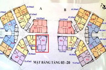 Căn 06 hot nhất CT1A Yên Nghĩa Hà Đông 3PN 2WC 73,47m2, giá Sốc