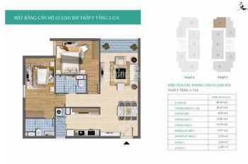 Cần bán căn 2PN tòa Trung Ương Đảng, giá 22.2tr/m2 (bao tên). LH: 0973.599.187