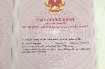 Bán nhà tại ngõ Hàn Thượng, Điện Biên Phủ, Hải Dương