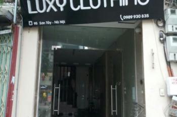 Cho thuê cửa hàng tầng 1 số nhà 95 phố tây sơn trên đường Trần Phú - Kim Mã kéo dài 2 chiều