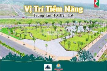 Bán nhà 1 trệt 1 lầu ngay trung tâm thị xã Bến Cát, ngân hàng hỗ trợ vay 60%, LH: 034.777.4465