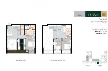 Chính chủ bán căn hộ La Cosmo Duplex B - 08 hướng Đông Nam, view Quận 1, diện tích: 123m2