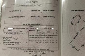 Bán nhà đường Đinh Tiên Hoàng, P. Bến Nghé Q.1 5,8 x 16,2m nở hậu 6,5m công nhận ~100m2. Giá 15 tỷ