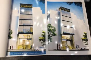 Cho thuê nhà mới hoàn thiện mặt phố Trần Nhân Tông 90m2x8 tầng, mặt tiền 8m