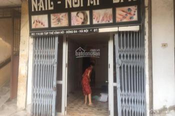 Cần cho thuê mặt bằng mặt chợ Vĩnh Hồ, Đống Đa, Hà Nội