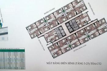 0932082030-Chị Hà cần bán gấp CC CT2 43 Phạm Văn Đồng, căn 15-02, ban công Tây Bắc, giá 1,4 tỷ.