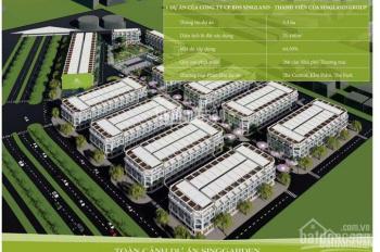 Mở bán đất nền, shophouse nhà liền kề dự án Sing Garden kí HĐ trực tiếp CĐT, giá bán 17 triệu/m2