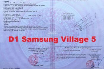 Chính chủ bán 1 trong 2 mảnh đất liền kề dự án Samsung Village, Quận 9, HCM