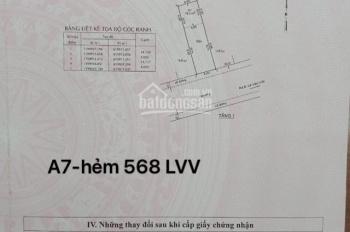 Chủ gửi bán gấp A7, hẻm 568 Lê Văn Việt không cột, không cống - 56.5m2 - Giá 3 tỷ 150, 0966190484