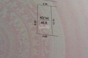 Bán nhanh trong tuần mảnh đất 45,8m Thôn Đìa-Nam Hồng, đất nở hậu, giá hợp lý cho anh em công nhân
