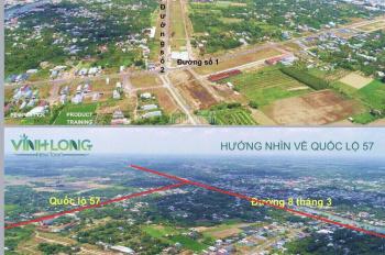 Chỉ 765 triệu sở hữu lô đất trung tâm phường 5 Vĩnh Long sổ đỏ sẵn LH: 0976.844.834