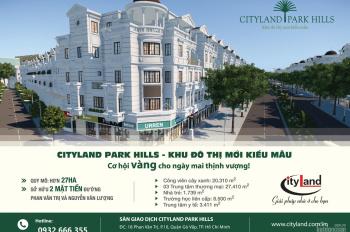 Nhà phố liên kế có hầm khu B Cityland Park Hills đợt 2