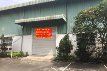 Cho thuê nhà xưởng DT 2000m2 mặt đường Quốc lộ 1A, Q12. Giá 100 tr/tháng, LH: 0944.977.229