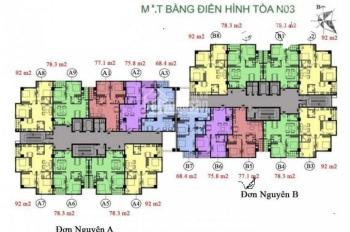 Chính chủ bán gấp CHCC K35 Tân mai ,căn 05 tòa N03 ,DT 77m2 , 2 ngủ + 2vs  giá 25tr/m2 0912 700.518