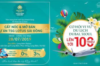 Sự kiện mở bán căn hộ cao cấp bậc nhất Quận Long Biên - TSG Lotus Sài Đồng xứng tầm đẳng cấp