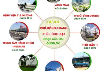 Bán đất nền dự án Phú Hồng Khang - Phú Hồng Đạt Thuận An,Bình Dương giá gốc chủ đầu tư