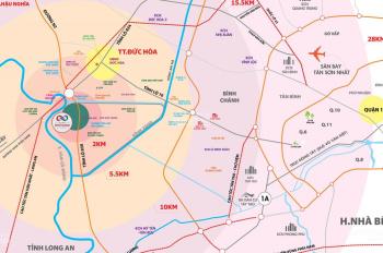 Cần bán gấp 2 lô kề Cát Tường Phú Thạnh, Đức Hòa - Long An, 68m2, 800 triệu, chính Đông, 0901440364