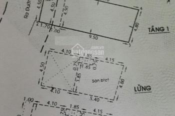 Nhà hẻm 506 Lạc Long Quân, (4,5x13m, NH 4,8m), lửng - lầu mới, hẻm 5m