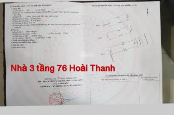 Chính chủ bán nhà 3 tầng 76 Hoài Thanh, khu vip, giá 8.7 tỷ bán đến công chứng, LH 0938.917.985