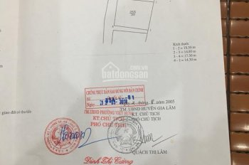 Vị trí kinh doanh đẹp nhất Cửu Việt, TT Trâu Quỳ, DT: 90m2, MT: 5,2m, cực rẻ chỉ: 42,5tr/m2