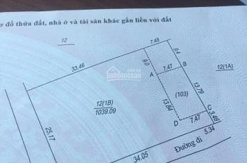 Chính chủ bán lô đất 1039m2, 2 mặt tiền, vuông vắn, gần ngã tư Lục Quân chỉ 1.8 tỷ. LH 0988332123