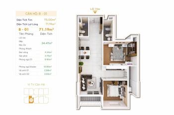 Cần tiền bán gấp căn hộ Orchid Park 2PN, 2WC DT 75m2, giá cực tốt. Nhanh tay liên hệ 0972 799 711