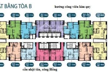 Nhượng lại căn hộ tầng 1015 chung cư Intracom Đông Anh, 64m2, giá bán 21 tr/m2. LH: 0979449965