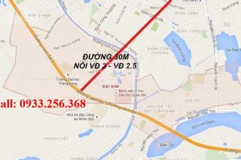 Bán đất mặt phố shophouse Đại Kim Mở Rộng mặt đường 17,5m, giá gốc 45 tr/m2 - 0933.256.368