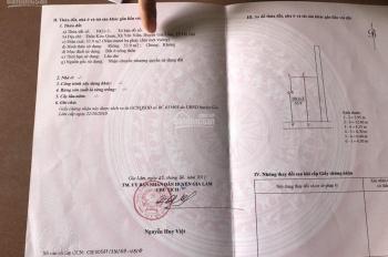 Bán đất địa chỉ thôn Kim Quan, xã Yên Viên, huyện Gia Lâm, TP Hà Nội. DT: 53.9m2